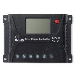 Controladores de Carga PWM SB-SRNE Modelo HP2410 - 10A 12-24V