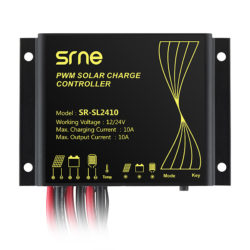 Controladores de Carga PWM SB-SRNE Modelo SL2410 - 10A 12-24V - Blindado